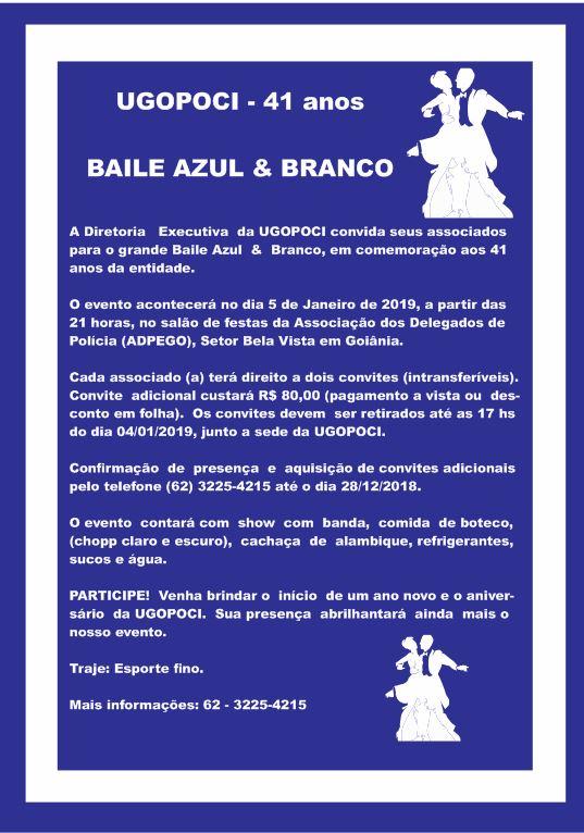 Baile Azul E Branco Da Ugopoci Ugopoci